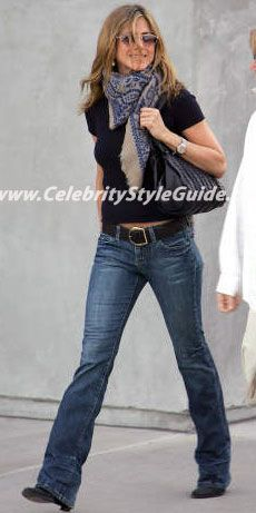 Jennifer Aniston Style and Fashion - Generra Second Skin Jeans In Dark Clean - Celebrity Style Guide