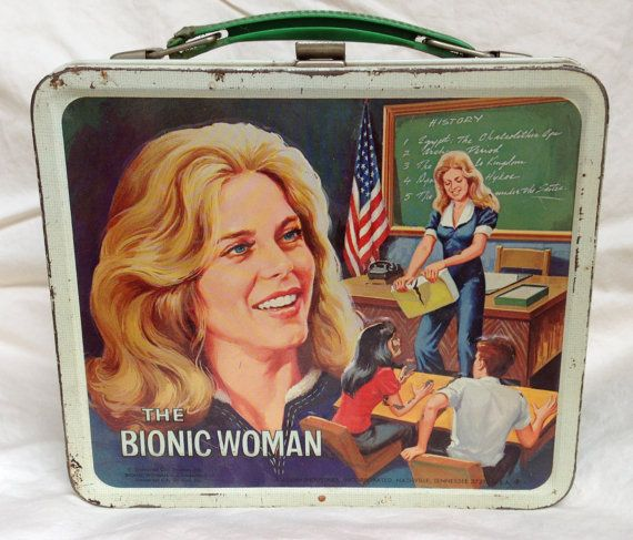 vintage lunchbox | Bionic Woman Vintage Metal Lunchbox with Thermos, Aladdin Industries ...