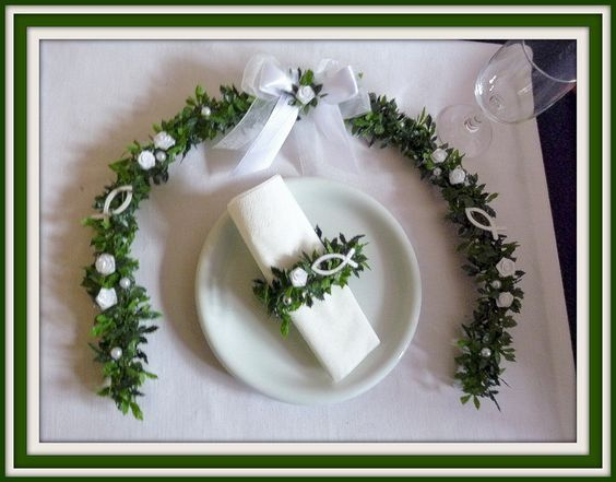 Honorary Place, Honorary Coath, Honorary Burnation, Communion, Confirmation, Baptism, Table Deco, Honorary Place Decoration, Decoration