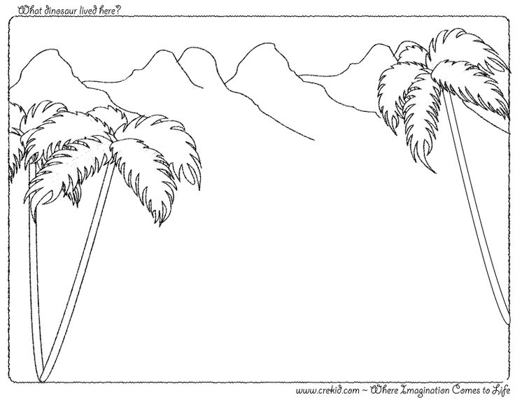 What dinosaur lived here? CreKid.com - Creative Drawing Printouts - Spark your child's imagination and creativity. So much more than just a coloring page. Preschool - Pre K - Kindergarten - 1st Grade - 2nd Grade - 3rd Grade. www.crekid.com