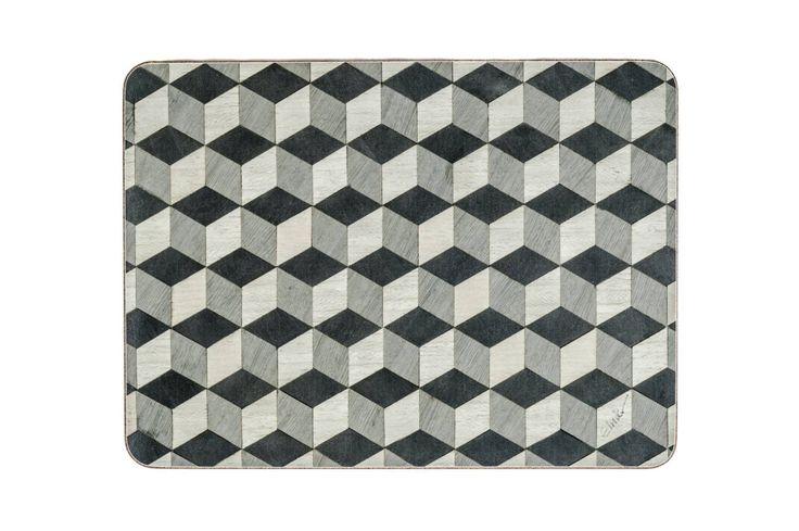 Set 8 Grey Placemats and 8 Coasters Geometric Place Mats Art Deco Tablemats Gray Retro Placemats Wedding Gift for Couple Retro Place mats 8 by EInderDesigns on Etsy