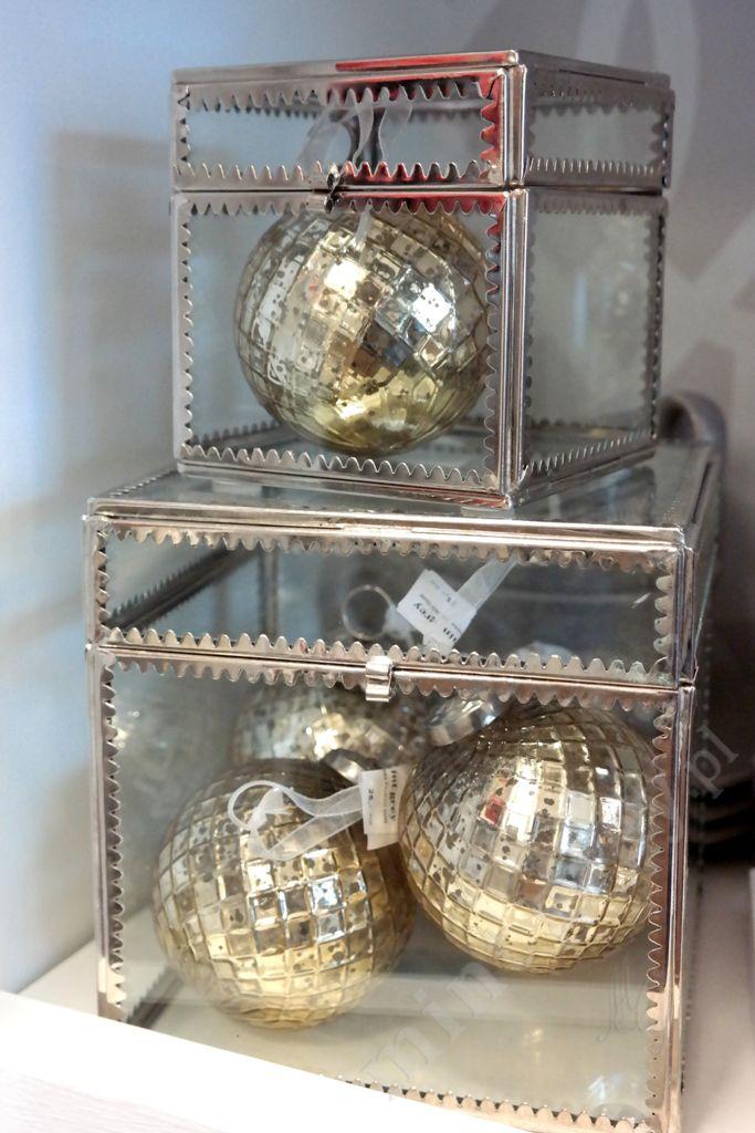 MINT GREY New York Style Interiors | produkty - dekoracje świąteczne Bombka GOLDIE 1; CHristmas Ornaments