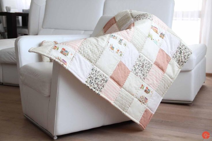 Handmade patchwork play mat and fabric toy