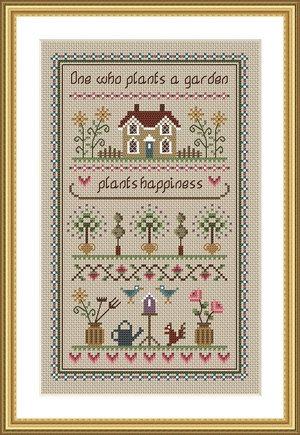 INSTANT DOWNLOAD Garden Sampler Cross Stitch by littledovesamplers, £5.00