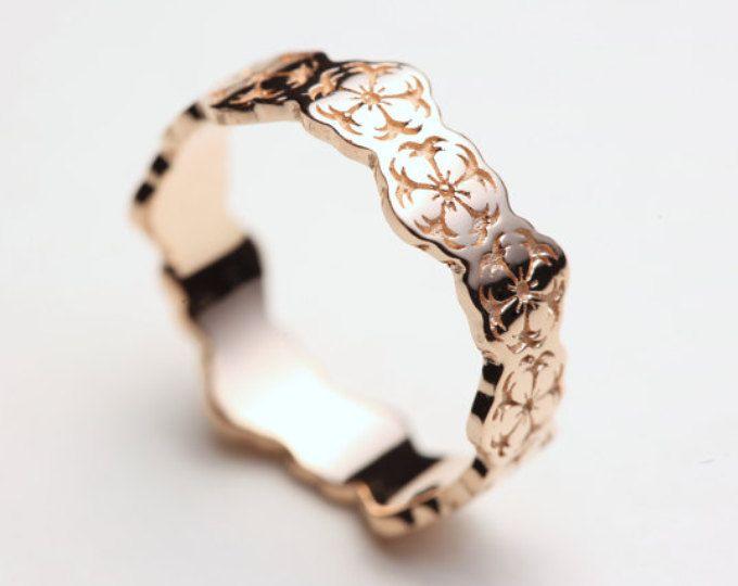 Rosa Sakura anillo, anillo de flor de cerezo, anillo flor, Sakura joyería, joyería japonesa, anillo de boda de Sakura, venda de boda de Sakura, Japón