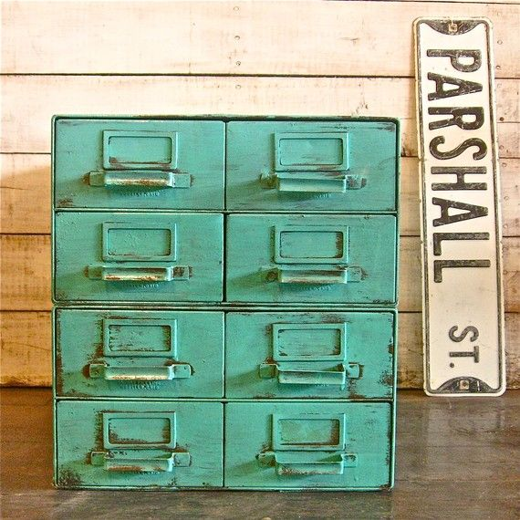 industrial 8 drawer cabinet.