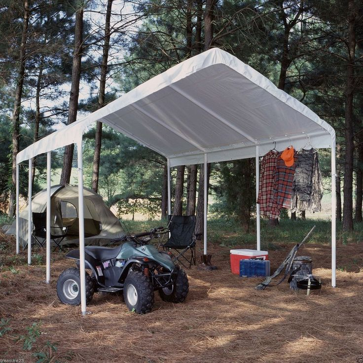 (Ship from USA) Replacement Canopy White 12 x 20 Carport