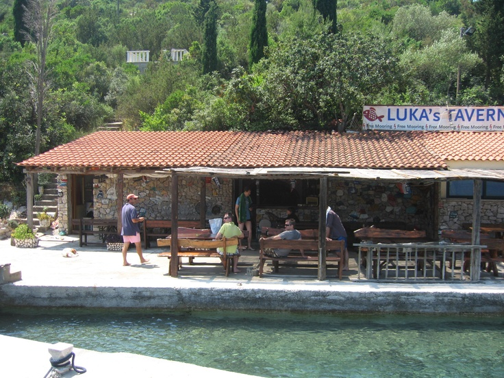 Luka's for an afternoon snack off of our boat...