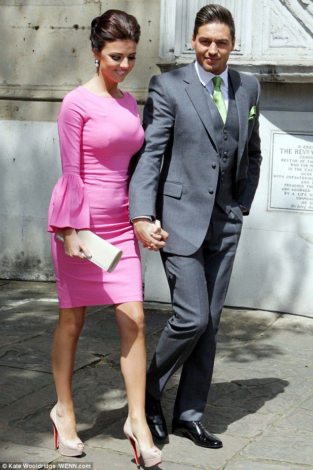 Pretty in pink The bride's younger brother Mario Falcone