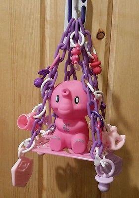 Sugar Glider/Bird Toy- Pink Elephant Design