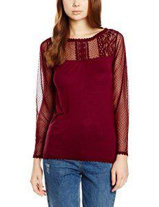 Naf Naf Ovela, Chemisier Femme, Rouge (Tanin), FR: 36 (Taille Fabricant: S): Tweet Naf Naf T- Shirt. modÚle Oavela. couleur grenat. Manche…