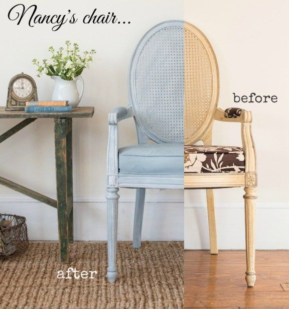 Furniture Makeovers Galore... - Miss Mustard Seed. Chair I painted at MMS workshop!