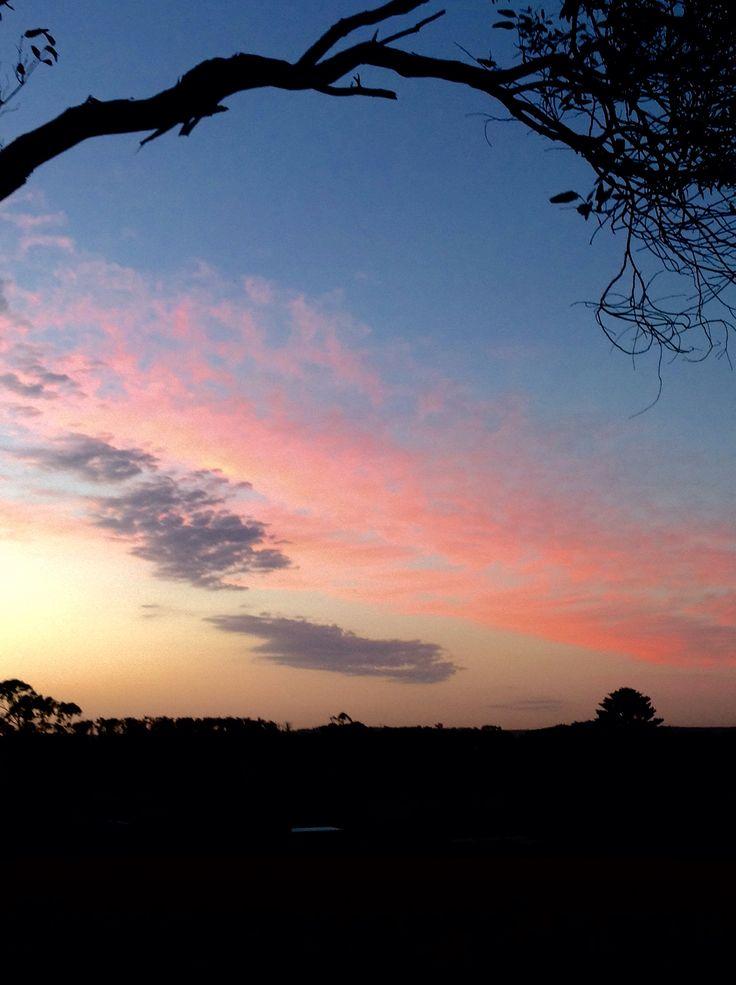 Sunset at Dumbalk, Victoria