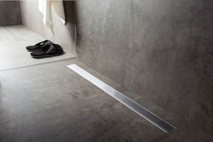 Abfluss Dusche Modern : Begehbare Dusche, Badezimmer Bodenfliesen and Gro?formatige Fliesen