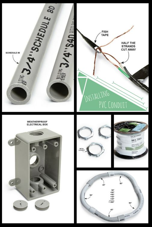 installing pvc conduit - it's cheap, easy and lightweight