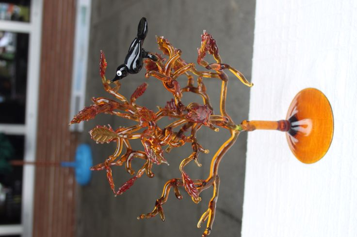 Sonbahar ağacı cam üfleme sanatı