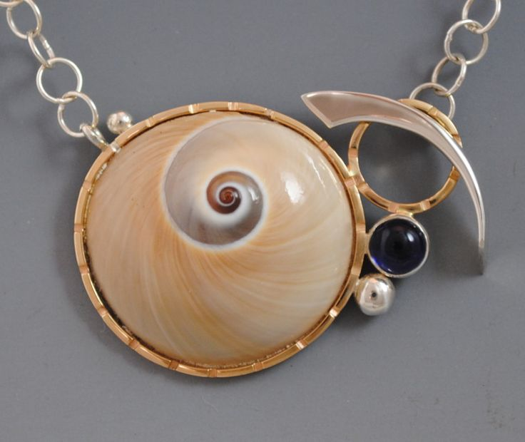 moon snail toggle necklace - barbara umbel jewelry design