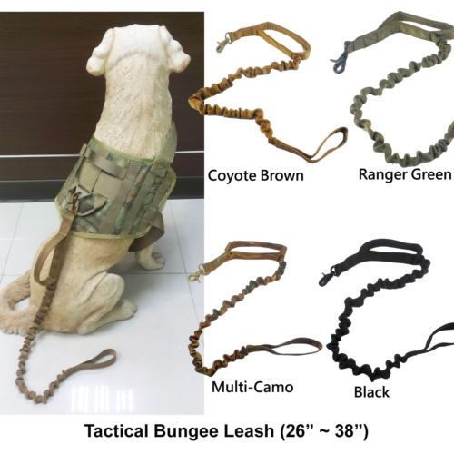 Details about Tactical Dog K9 Training Bungee Leash (4 ...