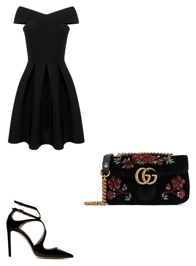 """Untitled #27"" by iuliacalin on Polyvore featuring Jimmy Choo and Gucci"