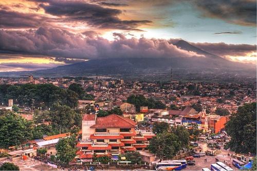 Bogor at dusk, West Java, Indonesia.