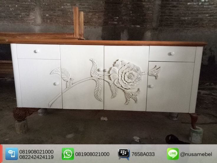 White Mahogany #Sideboard Flower #Carvings Anum front view It features 4 #doors with 2 #drawers.  BBM : 7658A033 Call WA : 6281908021000 Inquiry : cs@nusamebel.com Website : nusateak.com [en] / nusamebel.com [id]  #NusaMebel #Mebel #Meuble #MebelJepara #FurnitureJepara #MebelRumah #LivingFurniture #ReproductionFurniture #BuffetJepara #BuffetJati #BuffetMahoni #FurnitureDesign #FurnitureInterior #WhiteBuffet #LivingRoomFurniture #HotelFurniture #Etsy #FrenchStyle #Etsy #FurnitureManufacturer