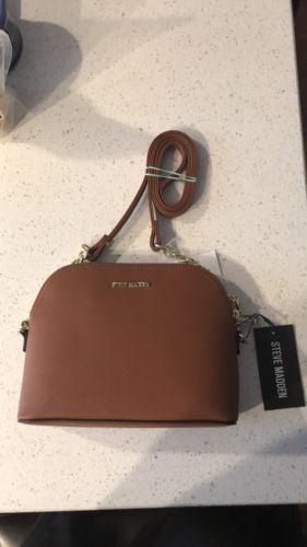6a389f322b Steve Madden handbag BMaggie Cognac Dome Handbag Crossbody New | Designer Women  Bags | Steve madden handbags, Steve madden, Cross body handbags