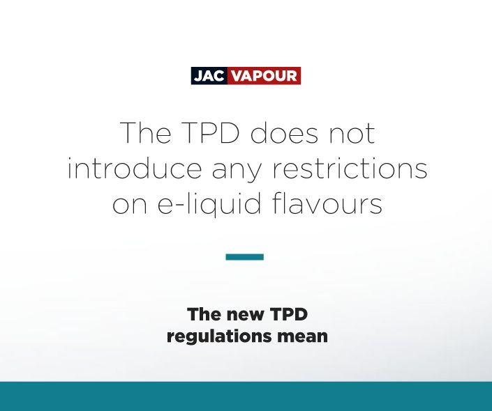 The #TPD does not introduce any restrictions on #eliquid flavours. #ecig #ecigs #vaping #regulations
