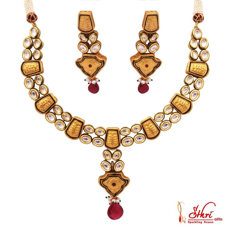 Gold Plated Kudhan Necklace Set