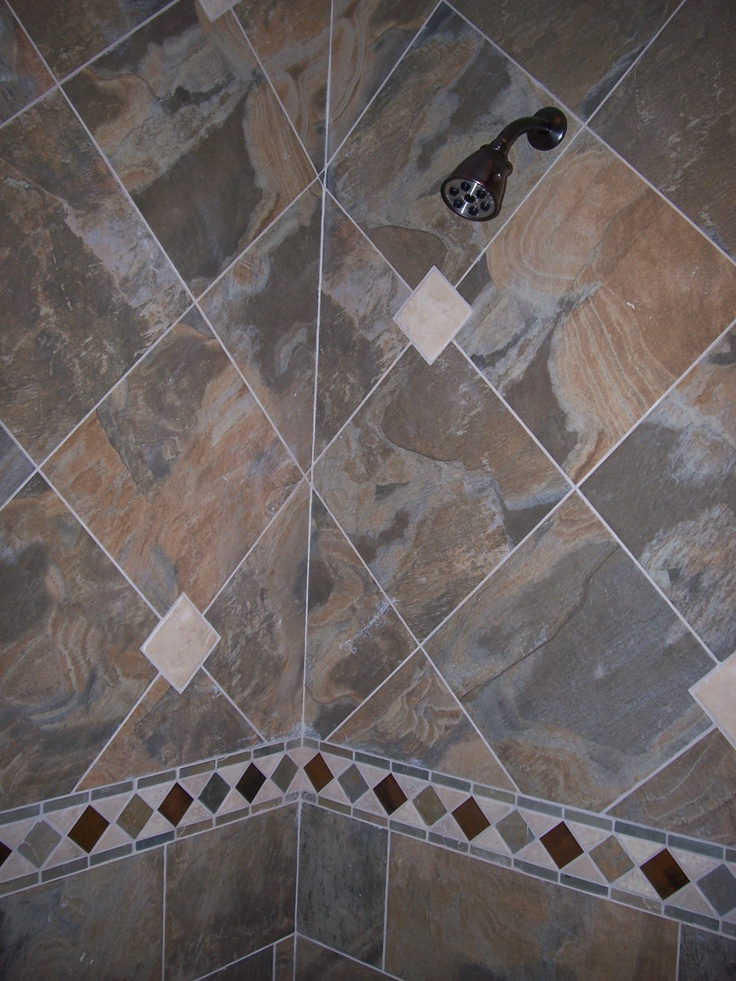 how to clean slate tiles in shower