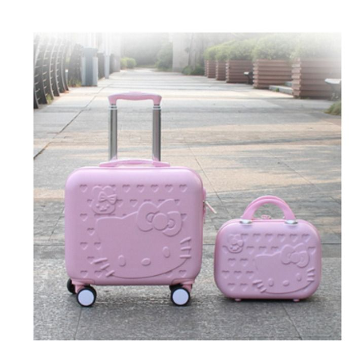 Hello Kitty 16inch Luggage Cabin &12inch Suitcase set,Women Child gift trolley #Unbranded #ShoulderBag