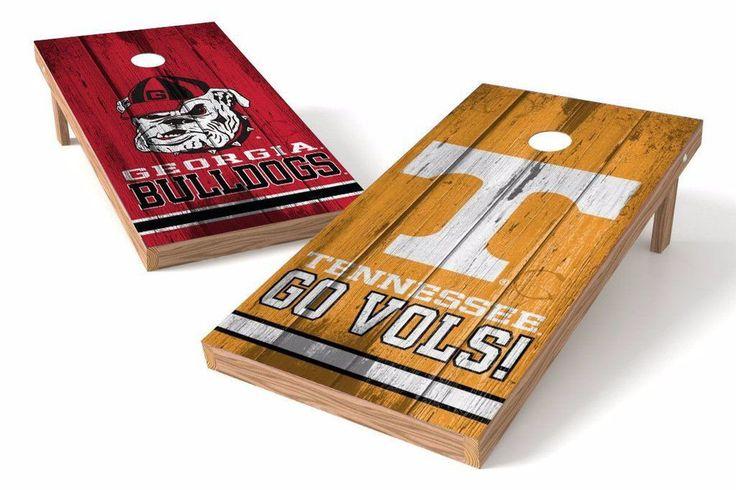 Georgia Bulldogs/ Tennessee Volunteers Rivals Cornhole Board Set