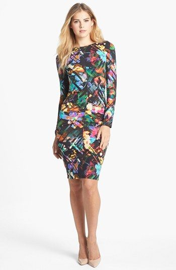 Nicole miller print jersey sheath dress available at for Nicole miller wedding dresses nordstrom