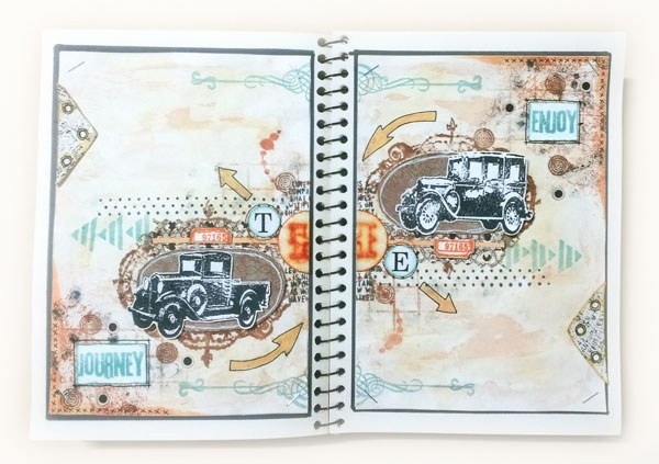 Journey #mixmedia #artjournal #journalbook #journal #watercolors #timholtzstamps