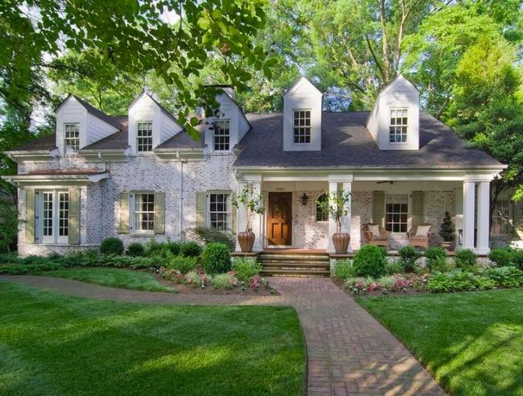 Lime Washed Brick Ranch Homes