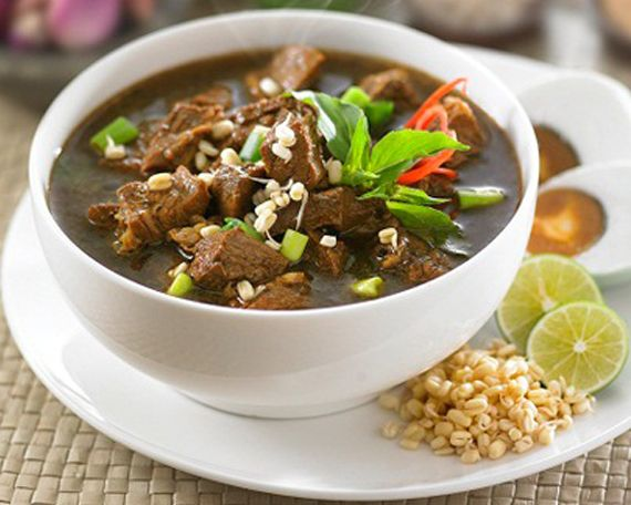 Rawon or Rawon Rice (when served with rice) - is a strong rich tasting traditional Indonesian beef black soup.Originally from Surabaya in Indonesian province of East Java