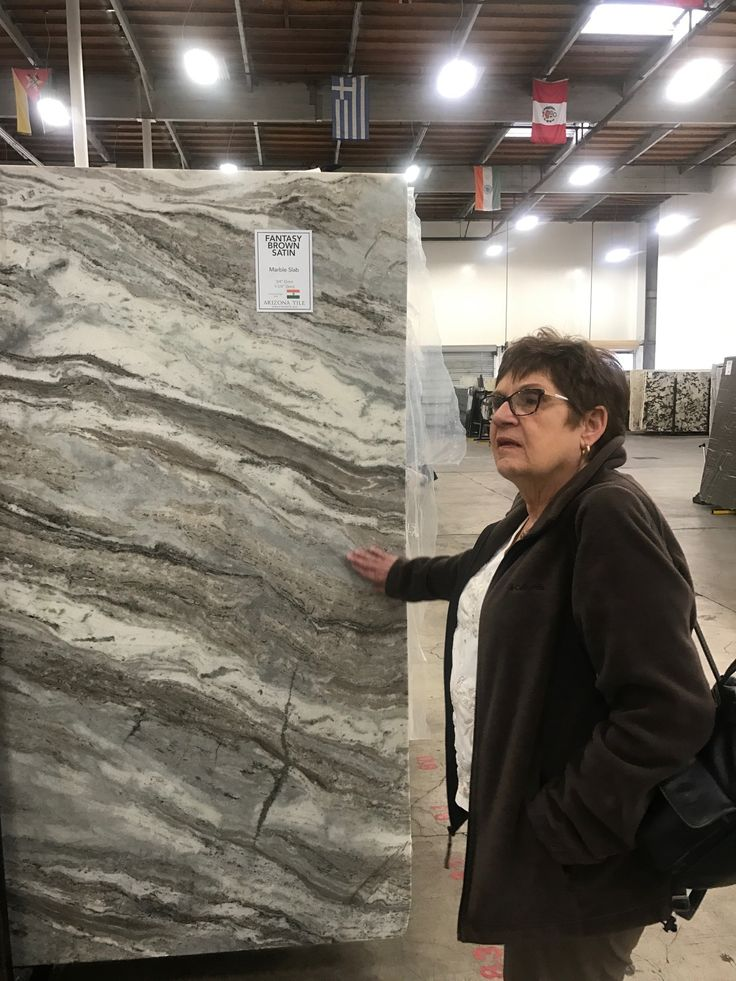 Arizona Tile customer, Gwen, visited our Miramar slabyard to pick out the perfect slabs for her dream kitchen! She went with this gorgeous Fantasy Brown Satin marble! Check back in to see the progress on her kitchen remodel! You can visit one of our local slabyards or check out our slab selection online at http://arizonatileslabyard.com/Account/Login.aspx?ReturnUrl=/search/customer.aspx