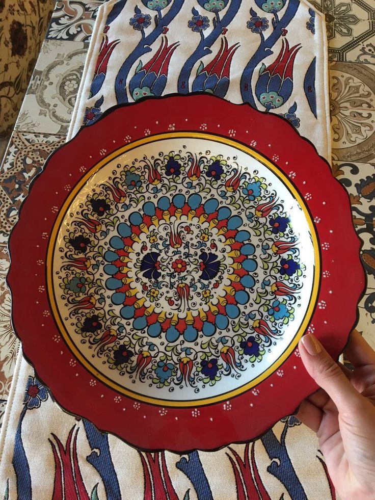 TURKISH CERAMIC PLATE, 30 cm