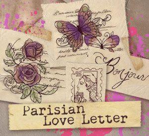 Parisian Love Letter Design Pack Design UTP1097 From