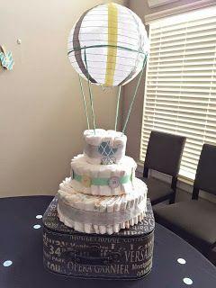 Hot Air Balloon Diaper Cake #Diapercake #Babyshower # ...