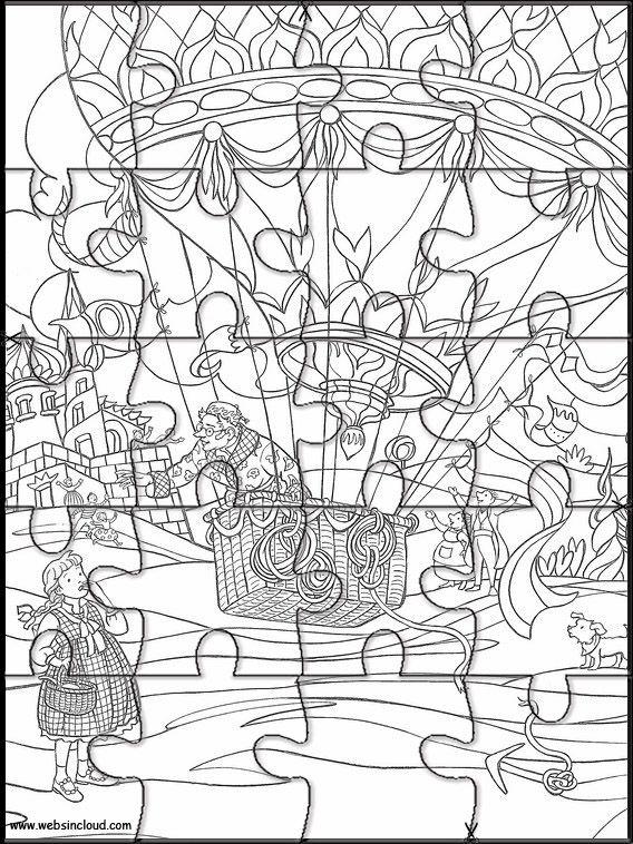 Der Zauberer Von Oz 12 Zu Drucken Puzzlespiele Aktivitaten Fur Kinder Zauberer Von Oz Puzzle Zauberer