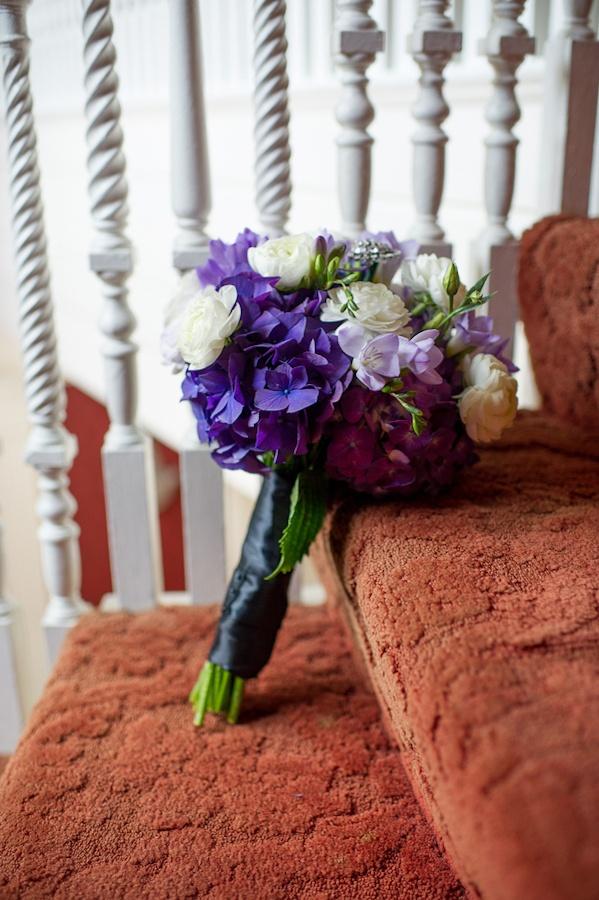 black white purple wedding reception%0A purple wedding bouquet
