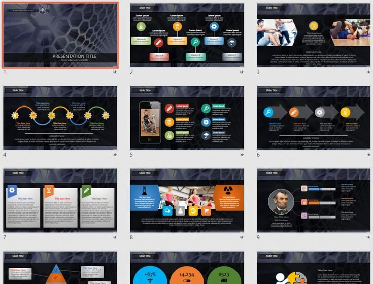 5692 Best Free Powerpoint Templates By Sagefox Images On Pinterest
