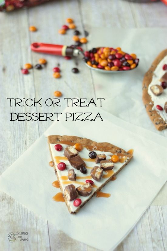 Trick or Treat Dessert Pizza   Crumbs and Chaos