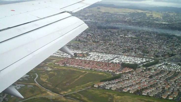 Landing at Oakland International Airport.
