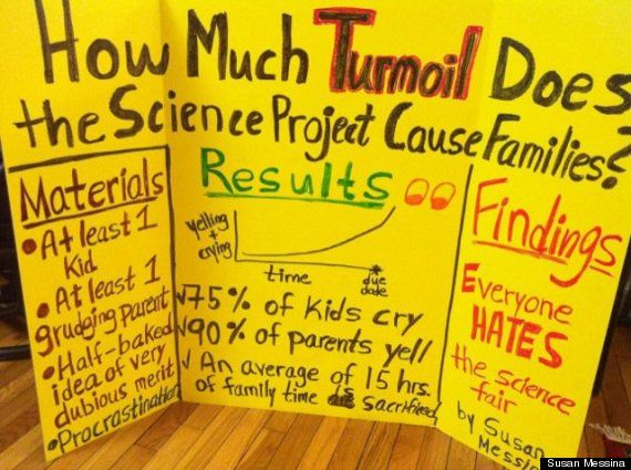 How much turmoil does the science project cause families?: