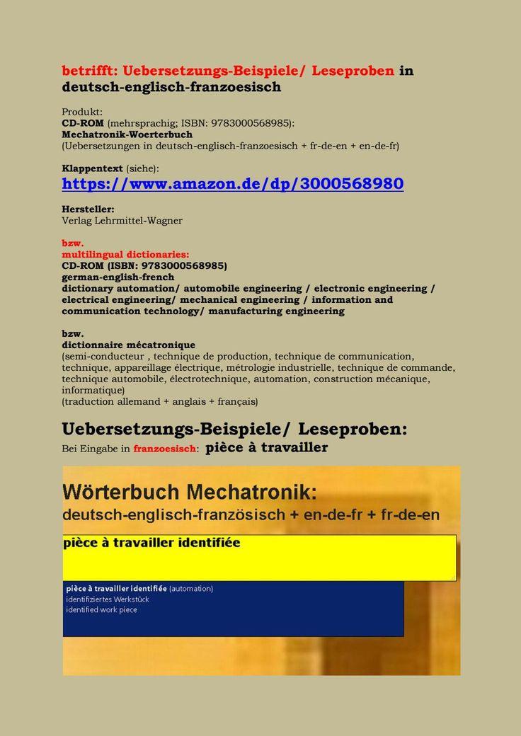 Neu franzoesisch woerterbuch mechatronische systeme kfz technik