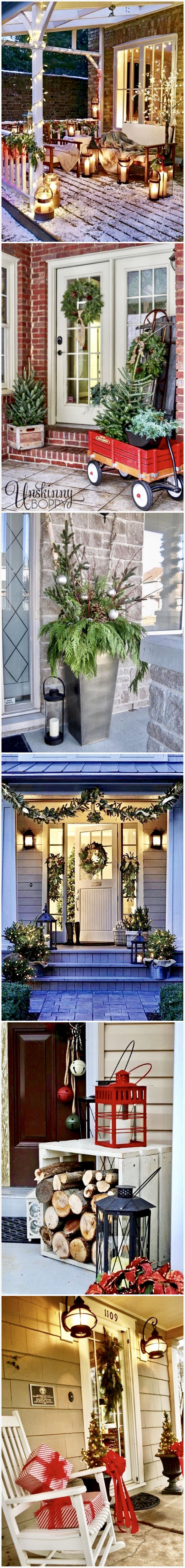 Christmas Porch Decorating Ideas @styleestate