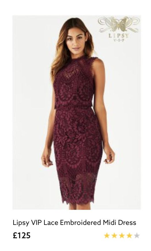 a69cfa473 Lipsy VIP Lace Embroidered Midi Dress Occasion Wine Burgundy UK 10 BNWT RRP  125 #fashion #clothing #shoes #accessories #womensclothing #dresses (ebay  link)