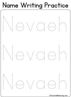 Custom Printables - My Name   Name tracing templates