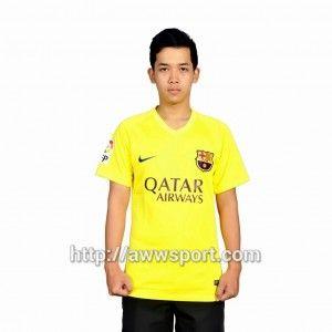 Jual Jersey Barcelona away kuning 2015-2016 Baju barca 2015 Jersey baru barcelona away 2015-2016